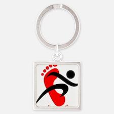 runbarefoot mid Square Keychain