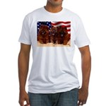 Proud Chow Puppies Fitted T-Shirt