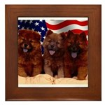 Proud Chow Puppies Framed Tile