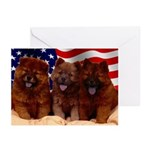 Proud Chow Puppies Greeting Cards (Pk of 10)