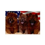 Proud Chow Puppies Rectangle Magnet