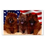 Proud Chow Puppies Rectangle Sticker