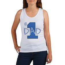 # 1 Dad blue gray Women's Tank Top