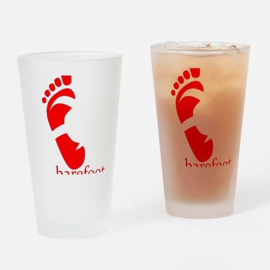 runbarefoot mid WHT Drinking Glass