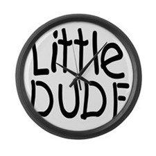 Little dude black Large Wall Clock