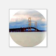 "Mac Bridge Circle Square Sticker 3"" x 3"""