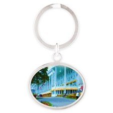 Mac Hotel Side-water Oval Keychain