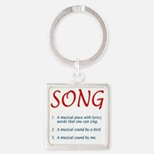 song01 Square Keychain
