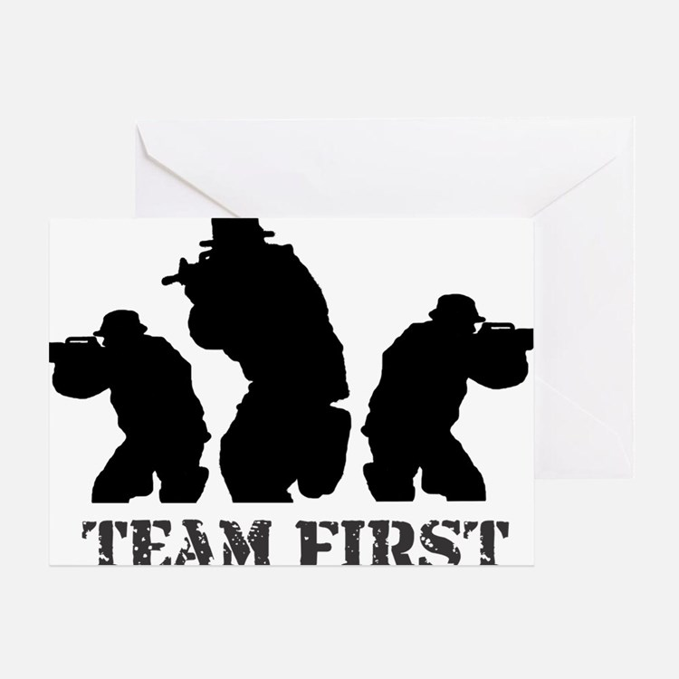 team first new1 Greeting Card