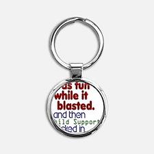 child_supp Round Keychain