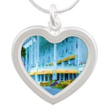 Mac Hotel Side-water Sq Silver Heart Necklace