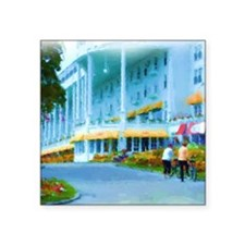 "Mac Hotel Side-water Sq Square Sticker 3"" x 3"""