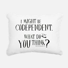 10x10apparel_codependent Rectangular Canvas Pillow
