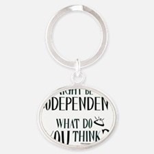 10x10apparel_codependent Oval Keychain