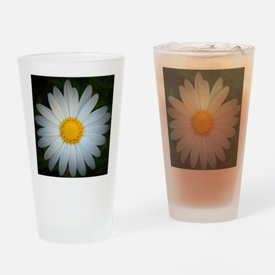 White Daisy Drinking Glass