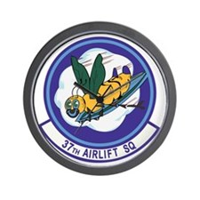 37th Airlift Squadron Wall Clock