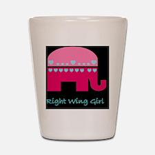 aaaaarigt wing girlelephant_republican_ Shot Glass