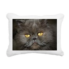 Charcoal Persian Rectangular Canvas Pillow