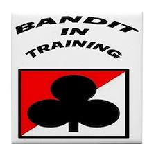Bandit in Training Tile Coaster