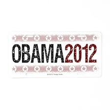 obama 2012 for cp Aluminum License Plate