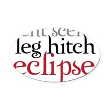 eclipse Oval Car Magnet