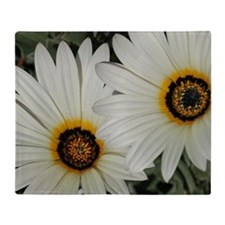 Large Daisies Throw Blanket