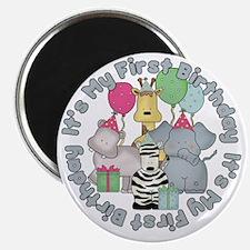 baby zoo buddies birthday Magnet