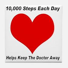 10000 Steps Plain Tile Coaster