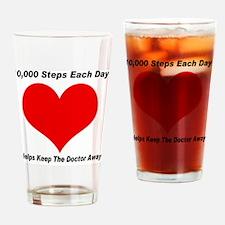 10000 Steps Plain Drinking Glass