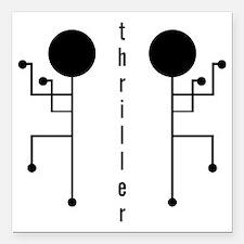 """Thriller Square Car Magnet 3"""" x 3"""""""
