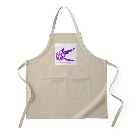 Brianna purple bird BBQ Apron
