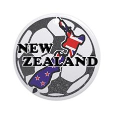 new-zealand-soccer Round Ornament