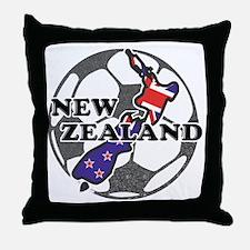 new-zealand-soccer Throw Pillow