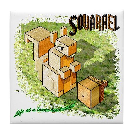 Squarrel Tile Coaster
