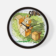 Squarrel Wall Clock
