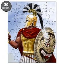 leonidas v1 corintian helmet square Puzzle