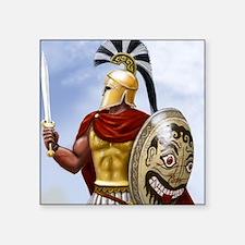 """leonidas v1 corintian helme Square Sticker 3"""" x 3"""""""