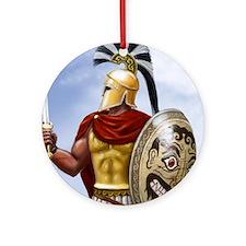 leonidas v1 corintian helmet square Round Ornament