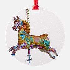 Galloping carousel horse Ornament