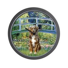 Bridge - Australian Shepherd (red merle Wall Clock