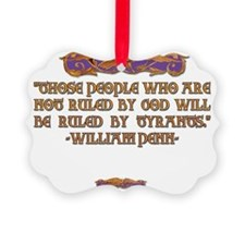 2-William Penn on who rules Ornament