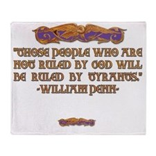 2-William Penn on who rules Throw Blanket