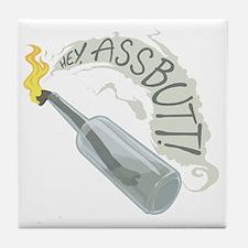 Assbutt logo light Tile Coaster