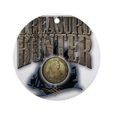 Treasure Hunter2 Round Ornament
