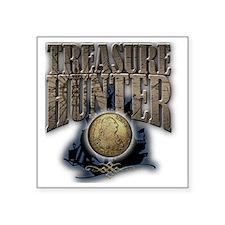"""Treasure Hunter2 Square Sticker 3"""" x 3"""""""