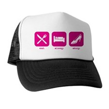 2-Eat Sleep Shop Trucker Hat