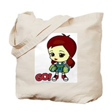 Brunette Cheerleader Tote Bag