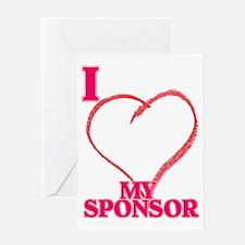 LOVE SPONSOR. Greeting Card