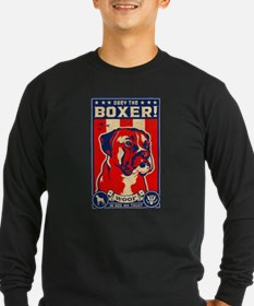 boxer3_usa_retrotee.jpg Long Sleeve T-Shirt