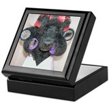 Black poodle Square Keepsake Boxes